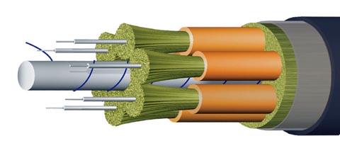 Cable breakout con cubierta LSZH para interiores y exteriores