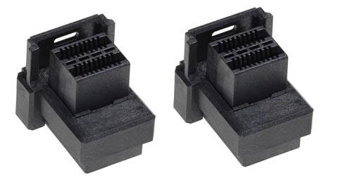 Conectores verticales con densidad de puertos