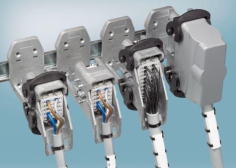 Conectores industriales para carril DIN