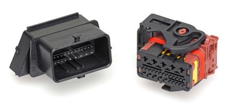 Cabezal rectangular de alta corriente con 28 circuitos