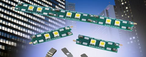 Sistema de contacto sin conector para iluminación LED