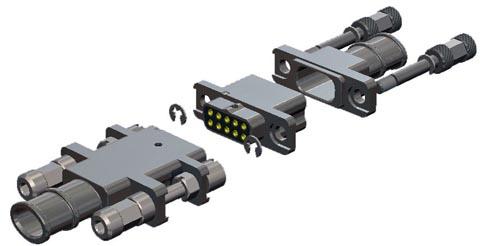 Accesorios de backshells para conectores DMM