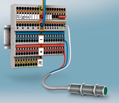 Bornes push-in para sensores y actuadores