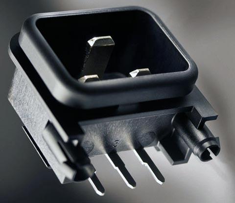 Conector IEC C20 para tarjetas de circuito impreso