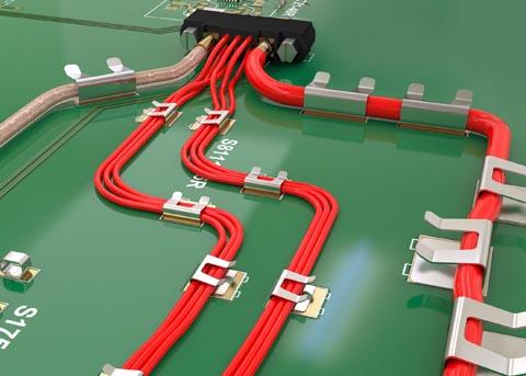 Clips para cables en tarjetas de circuito impreso