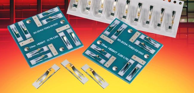 Contactos de compresión tarjeta a tarjeta