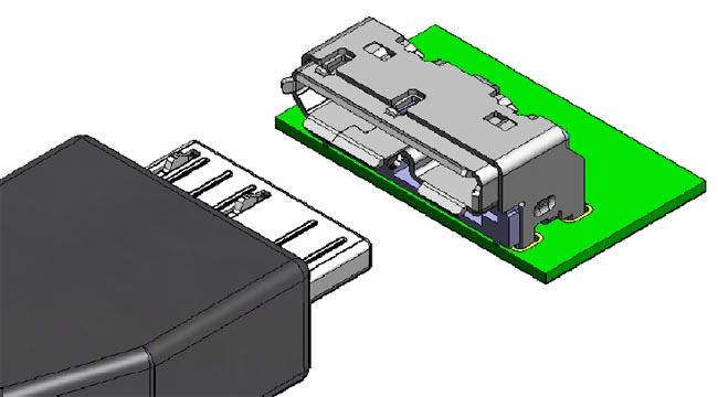 Conector de tarjeta a cable Micro-B