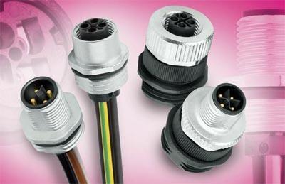 Conectores M12 para montaje en panel