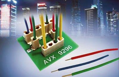 Conector SMT con tope vertical