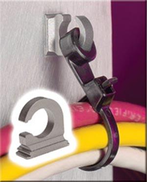 Ganchos para abrazaderas de cable en armarios