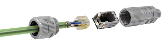 Conector RJ45 en formato M12