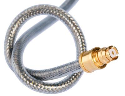 Ensamblaje de cable coaxial flexible
