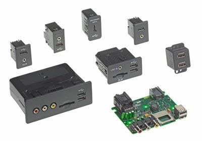 Módulos de conectividad multimedia