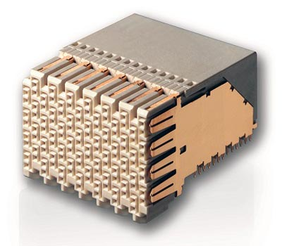 Sistema de conexión de alta densidad y velocidad