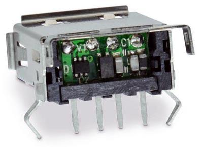 Conector USB con filtro EMC integrado