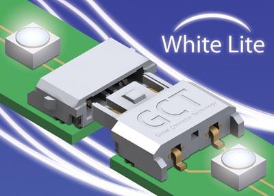 Conectores para iluminación LED blanca