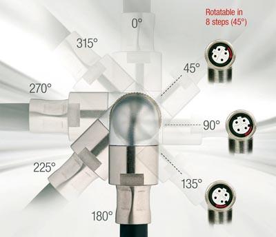 Conectores M12 giratorios