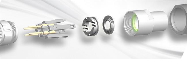 conectores M12 con anillo protector integrado