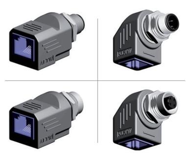 Adaptador M12 - RJ45 para redes Ethernet Industrial
