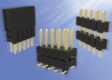 Conectores placa a placa apilables