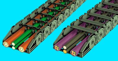 Cadenas portadoras de cables