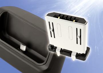 Conector micro USB para montaje vertical