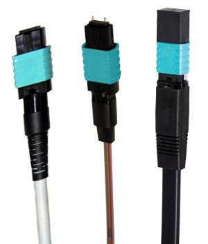 Conector para cable de ocho fibras ópticas