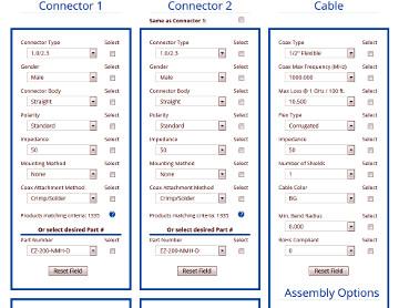 Servicio online para configuración de cables