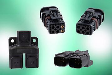 Conector con splitter de señal de seis terminales