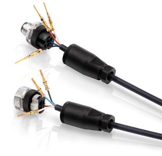 Conectores de cable M12 con terminación crimpada