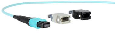 Conectores multi-fibra óptica