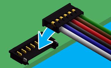 Conectores cable a tarjeta de bajo perfil