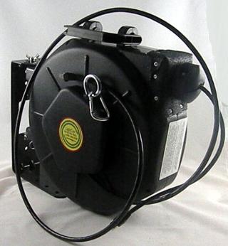 Bobina para cable retráctil Cat6 con motor