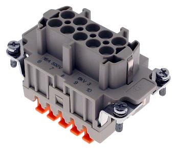 Conectores rectangulares con terminal de muelle