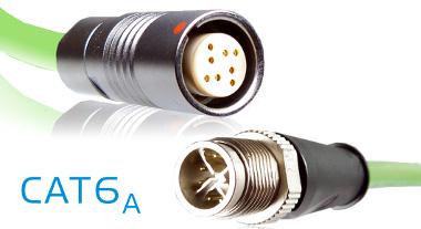 Conectores circulares compatibles Cat6A