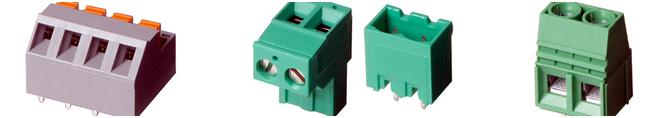 Bloques de terminal y conectores sin tornillos