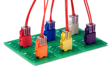 Conectores cable a placa de seguridad