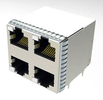 Conector RJ45 apilado