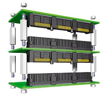 Conectores para sistemas PCI/104-Express