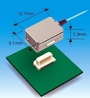 Conectores ópticos activos de dos canales