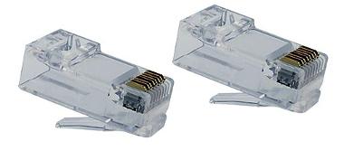 Conector RJ45 Cat6 sin guía hilos