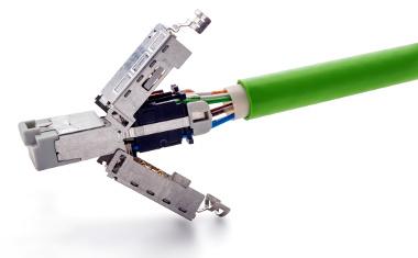Conector RJ45 Cat 6A con IP20