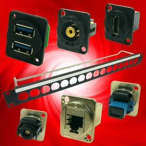 Panel de montaje 1U para conectores