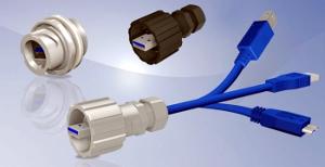 Conector USB 3.0 IP67 para entornos adversos