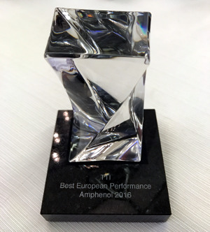 Amphenol premia a TTI como mejor distribuidor del año 2016