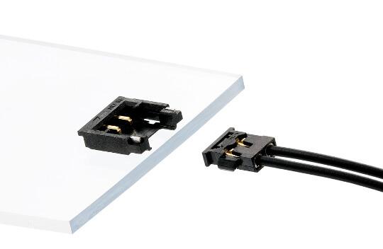 Sistema de conexión cable a placa compacto