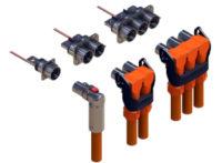 La serie PowerLok de Amphenol está diseñada para 750 A y 1000 V y cuenta con protección HVIL. (Fuente: Amphenol)