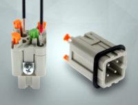 Conectores rectangulares de tres y cuatro polos