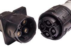 Conector industrial con cierre de bayoneta