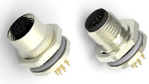 Conectores M12 para PCB y paneles